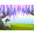 Cartoon Computer Boy vector image vector image