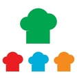 Chef cap sign Colorfull set vector image vector image