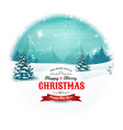 christmas and new year landscape in snowball vector image vector image