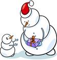 christmas snowmen cartoon vector image