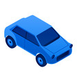city car icon isometric style vector image