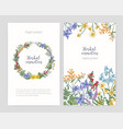 collection flyer or poster templates with frame vector image