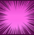 comic page pink background vector image