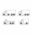 commercial van icons set vector image vector image