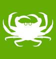 crab icon green vector image vector image