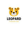 cute cheetah leopard flat logo icon vector image
