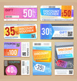 discount coupons and gift vouchers vector image vector image