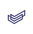 double check outline logo icon vector image