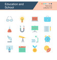 education and school icons flat design collection vector image vector image