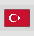 flag of turkey national ensign aspect ratio 2 to vector image vector image