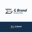 g brand logo vector image