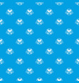 geometry pattern seamless blue vector image vector image