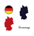 germany map with the german flag vector image vector image
