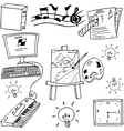Hand draw of doodle school education vector image vector image