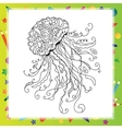 Hand drawn artistic sea Jellyfish vector image vector image