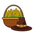 happy thanksgiving cartoon vector image vector image