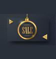 horizontal banner design for christmas sale vector image