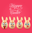 humor easter invitation with smiling eggs vector image
