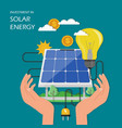 investment in solar energy flat vector image