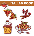 italian food collection exquisite vector image vector image