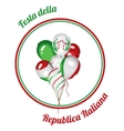 Italy National Republic Day vector image vector image