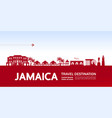 jamaica travel destination vector image vector image