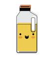 kawaii orange juice bottle in watercolor vector image