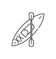 kayaks line icon concept kayaks linear vector image vector image