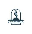 king cobra label vector image vector image