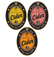 labels for cider vector image vector image