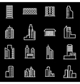 Line building icon set