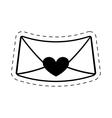 love message envelope valentine cut line vector image