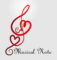 love symbol music notes vector image vector image