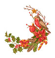 merry christmas decoration design vector image vector image