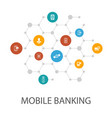 mobile banking presentation template cover layout vector image vector image