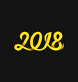 new year 2018 number monoline handwritten vector image vector image