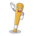 okay baseball bat character cartoon vector image vector image