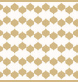 ornament gold and white geometric texture vector image vector image
