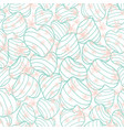 pastel blue bouncy striped hearts packed together vector image