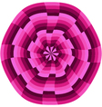 Pink op art wheel shape vector image