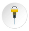 pneumatic hammer icon circle vector image vector image
