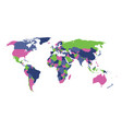political map of world in four colors isolated on vector image vector image