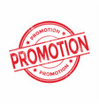 promotion red round grunge stamp vintage vector image