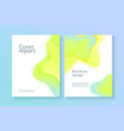report cover template with gradient liquid drop vector image vector image