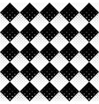 seamless black and white geometrical star pattern vector image vector image