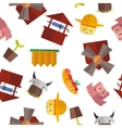 seamless farm pattern vector image vector image