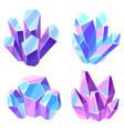 set crystals and minerals vector image