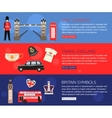 set england travel horizontal banners vector image