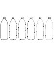 set icons recycling plastic bottles sign vector image
