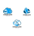 set of cloud deal and repair logo design element vector image vector image
